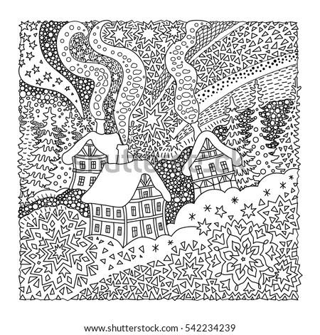 Cartoon hiver carré cadre design Photo stock © balabolka