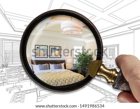 mestre · quarto · interior · marrom · casa · parede - foto stock © feverpitch