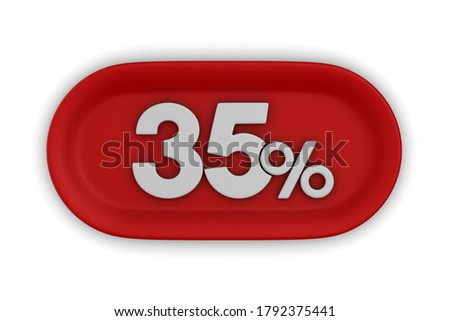 3D · yüzde · indirim · 3d · illustration · kırmızı - stok fotoğraf © iserg