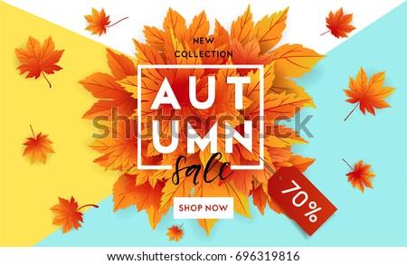 Hello ősz őszi szezon vásár szalag ősz Stock fotó © ikopylov