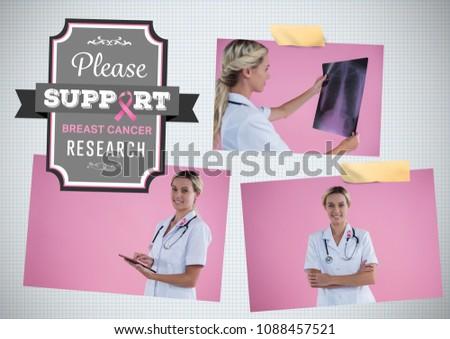 Támogatás kutatás szöveg mellrák tudatosság fotó Stock fotó © wavebreak_media