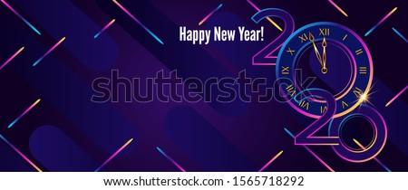 Happy new year design nombre couleur blocs Photo stock © ussr