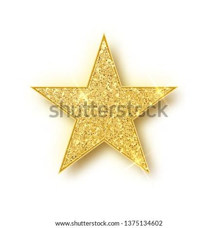 Altın parlak parıltı star gölge Stok fotoğraf © olehsvetiukha