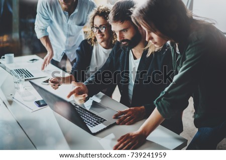 Teamwerk procede vergadering bespreken nieuwe Stockfoto © Freedomz
