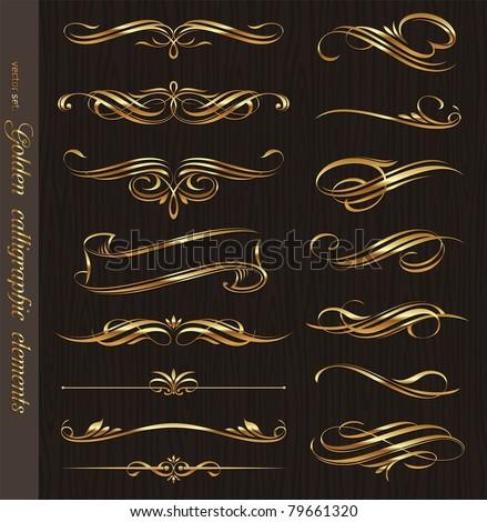 altın · elemanları · sayfa · dekorasyon · dizayn - stok fotoğraf © blue-pen