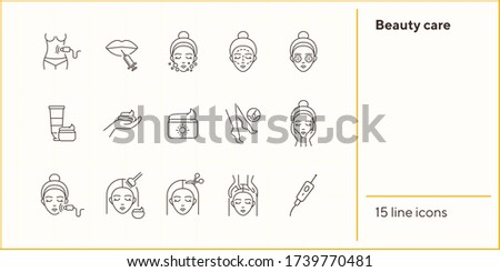 Injections for Women Rejuvenation Icon Vector Outline Illustration Stock photo © pikepicture