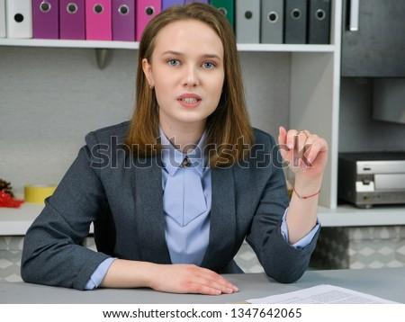 Frente vista altos caucásico mujer de negocios mirando Foto stock © wavebreak_media