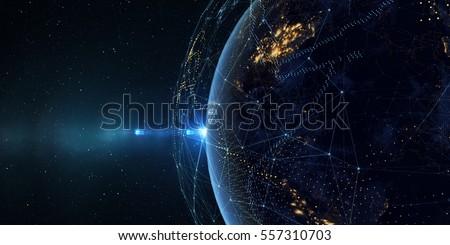 Illusztráció üzlet körül világ promóciós poszter Stock fotó © ConceptCafe