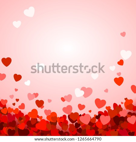 valentines day red card with falling sparkles Stock photo © SArts