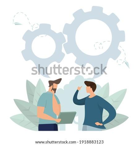 Irodai dolgozó állás tele feladat alkalmazott rajz Stock fotó © vector1st