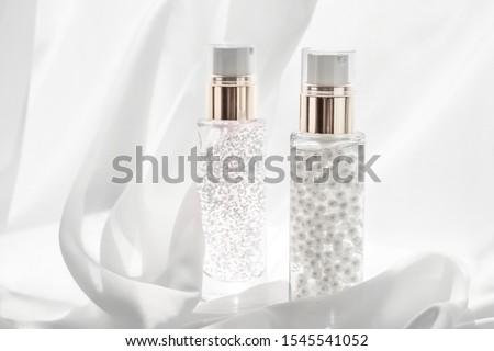 Skincare serum and make-up primer gel bottle, moisturizing lotio Stock photo © Anneleven