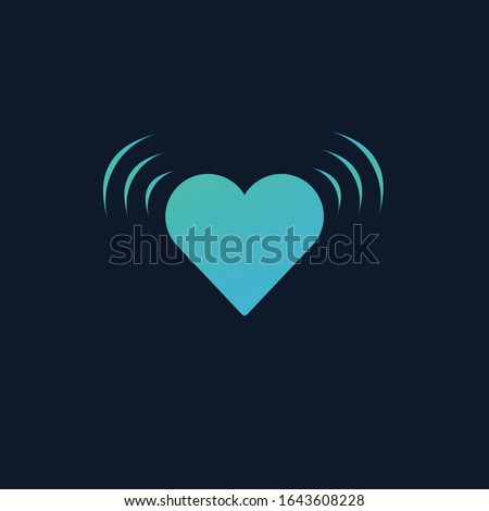 Vibrating Heart Beating with impolse signal. Shaking heart. Stock Vector illustration isolated on bl Stock photo © kyryloff