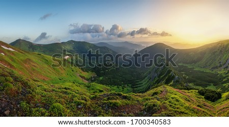 Magnífico verde montanhas montanha estrada vulcão Foto stock © galitskaya