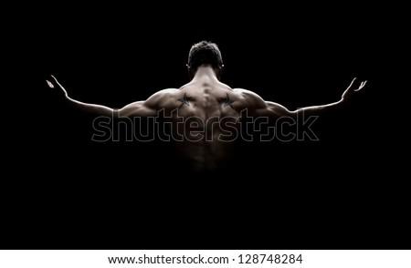 Genç kas gömleksiz egzersiz Stok fotoğraf © pressmaster