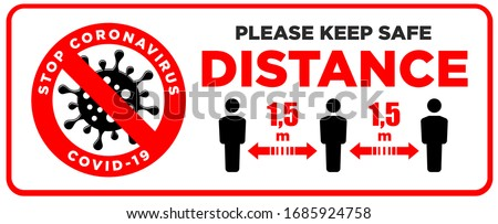 Social distancing sign, please keep distance, banner or sign boa Stock photo © gomixer
