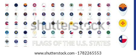 Vettore set bandiere americano Michigan diverso Foto d'archivio © butenkow