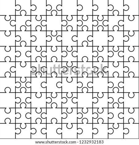 白 ピース 広場 ジグソーパズル テンプレート 準備 ストックフォト © evgeny89