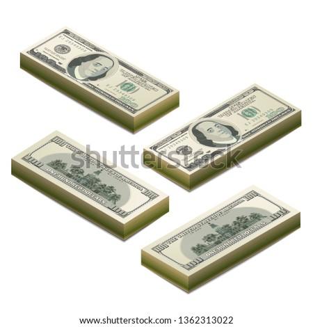 Realistisch een honderd dollar bankbiljet Stockfoto © evgeny89