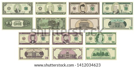 Fake one hundred USA dollars from back side, green banknote torn into two pieces on white Stock photo © evgeny89