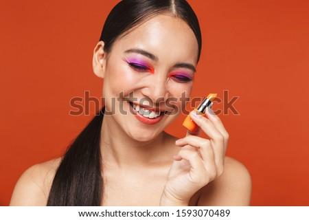 Piękna portret atrakcyjny młodych topless asian Zdjęcia stock © deandrobot