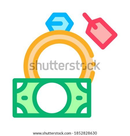 Házhozszállítás értékes gyűrű ikon vektor skicc Stock fotó © pikepicture