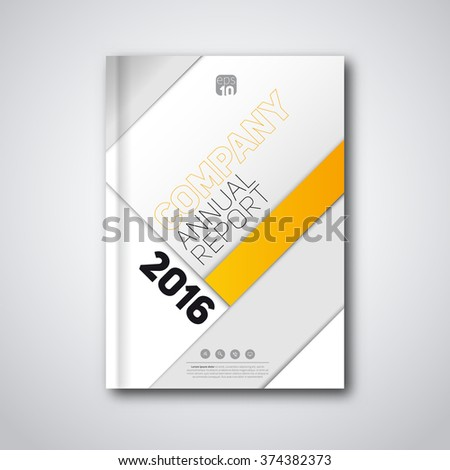stylish yellow annual report business brochure design template Stock photo © SArts