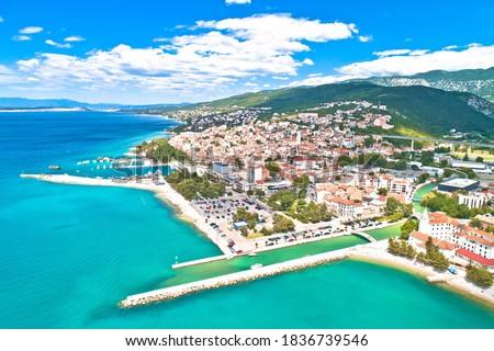 町 アーキテクチャ 海岸線 表示 地域 クロアチア ストックフォト © xbrchx