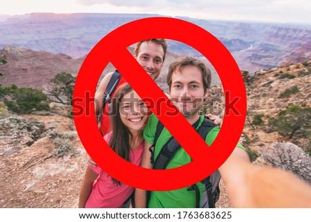 Geen meer sociale verboden outdoor wandelen Stockfoto © Maridav