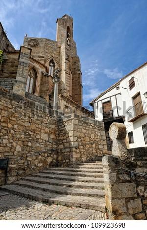 Ruas pequeno espanhol próprio céu casa Foto stock © Pilgrimego
