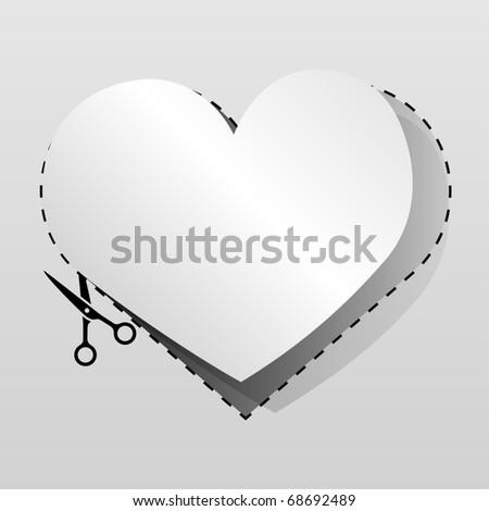 blanco · publicidad · corazón · corte - foto stock © lenapix