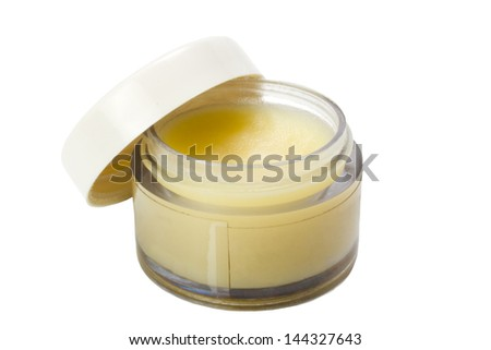 close up of beauty hygiene container on white background with clipping path Stock photo © ozaiachin