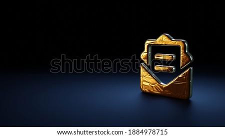 e-mail · simbolo · blu · isolato · bianco · ufficio - foto d'archivio © monarx3d