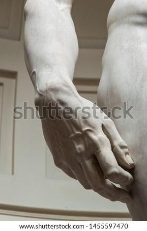 Detail of a famous statue by Michelangelo - David from Florence Stock photo © ikopylov