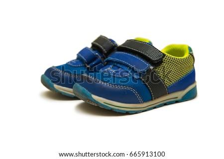 синий ребенка кожа обувь белый мальчика Сток-фото © Zerbor