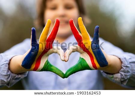 сердце любви жест рук Сейшельские острова Сток-фото © vepar5