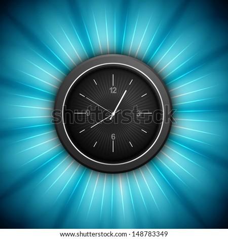 Klok presentatie Blauw kleurrijk swirl cirkel Stockfoto © bharat