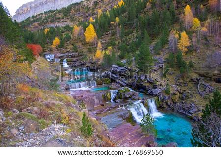 Gradas de Soaso in Arazas river Ordesa valley Pyrenees Huesca Sp Stock photo © lunamarina