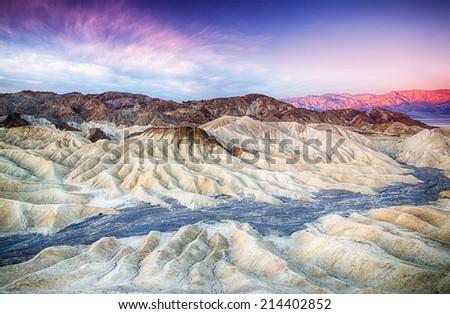 Sunset over mountain, Zabriskie Point, Death Valley National Par Stock photo © bmonteny