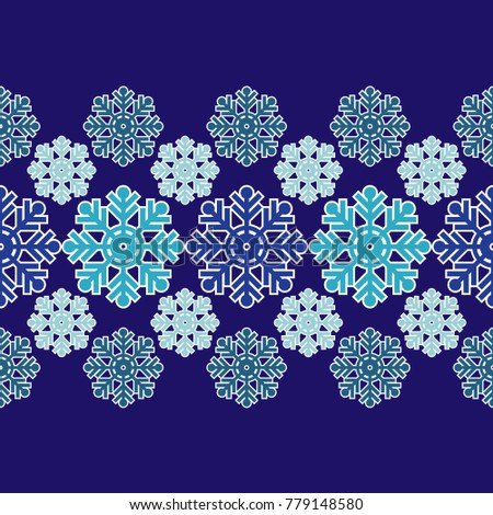 雪 · 冬 · シームレス · 国境 · テクスチャ · エンドレス - ストックフォト © littlecuckoo