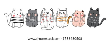 Engraçado bonitinho gato retrato jovem cara Foto stock © meinzahn