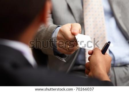 Portret twee geslaagd business uitvoerende Stockfoto © deandrobot