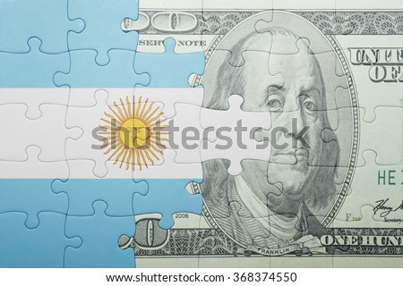 USA and Argentina Flags in puzzle  Stock photo © Istanbul2009
