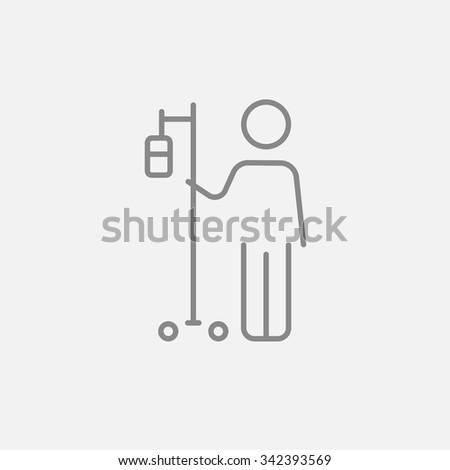 Beteg áll intravénás cseppentő ikon rajzolt Stock fotó © RAStudio