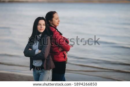 Portret pary morza dziewczyna uśmiech Zdjęcia stock © Paha_L
