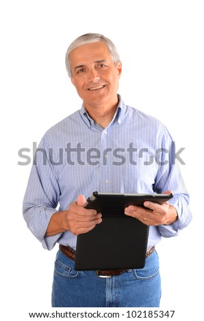 composite image of smiling business people using digital tablet stock photo © wavebreak_media