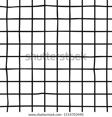 Vector Seamless Black And White Hand Drawn Checker Lines Pattern Stock photo © CreatorsClub