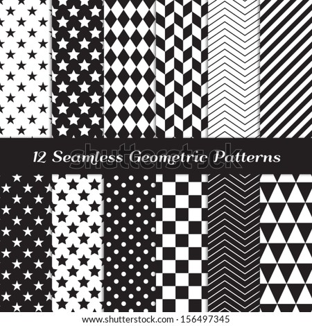 vector seamless black and white diagonal lines and circles pattern stock photo © creatorsclub