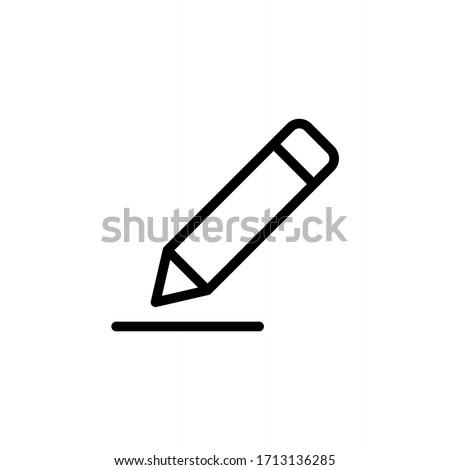 lápiz · icono · del · vector · icono · estilo · icónico · símbolo - foto stock © ahasoft