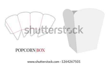 Popcorn emballage isolé papier boîte maïs Photo stock © popaukropa