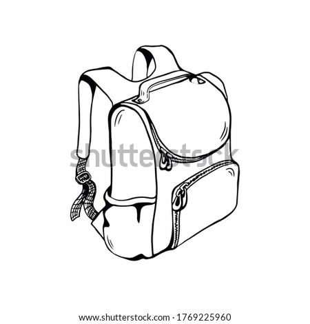 Back to school black and white illustration. Comic retro monochr Stock photo © pashabo